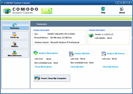 Comodo System Cleaner 3.0.167886.37 + Portable (2010/RUS)