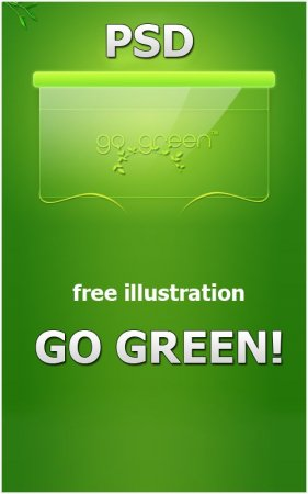 Go green - free PSD illustration