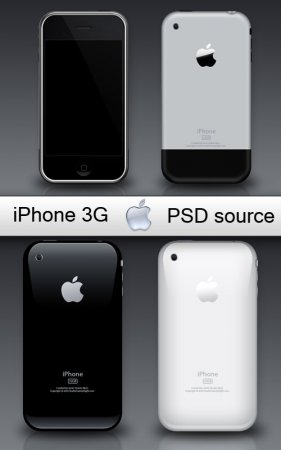 iPhone 3Gs - high quality  PSD source