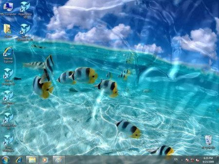 Watery Desktop 3D ScreenSaver v3.5.3.1