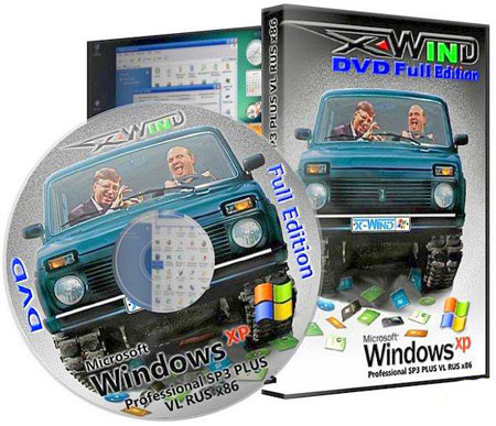Windows XP PRO SP3 PLUS X-Wind by YikxX 3.6 DVD Edition 220211 Rus