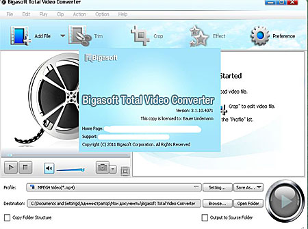 Bigasoft Total Video Converter 3.1.10.4071 Portable (2011)