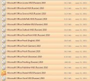 Microsoft Office 2003/2007/2010 and Update Pack's