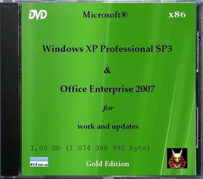 Windows XP SP3 Gold + MS Office 2007 Enterprise (2011/RUS)