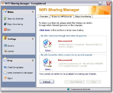 WiFi Sharing Manager v2.0.0