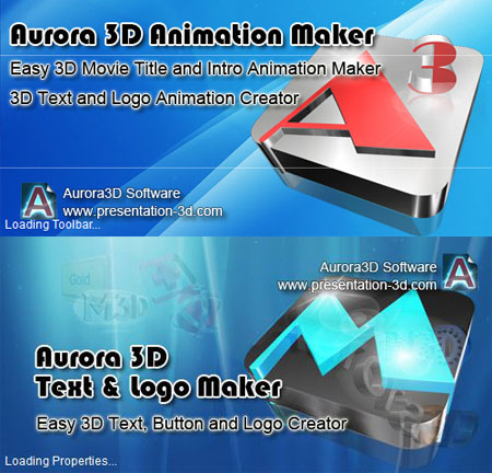 Aurora 3D Animation / Text and Logo Maker